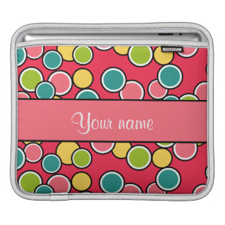 Colorful Summer Polka Dots Personalized Sleeve For iPads