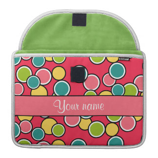 Colorful Summer Polka Dots Personalized Sleeve For MacBook Pro