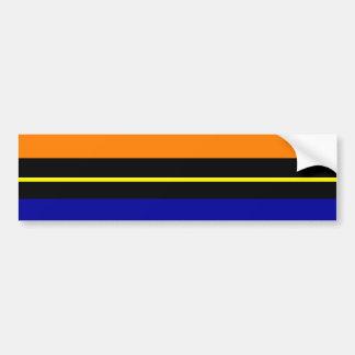 Colorful Summer Striped Pattern Red Orange Blue Gr Bumper Sticker