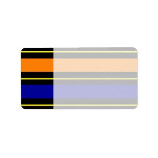 Colorful Summer Striped Pattern Red Orange Blue Gr Personalized Address Labels