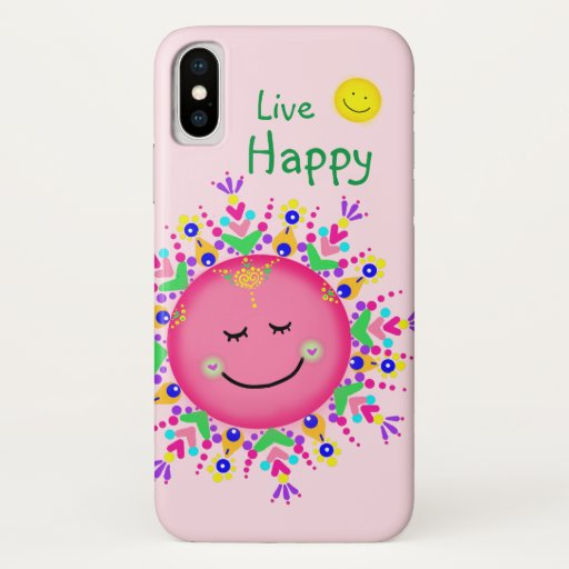 colorful sun pink iPhone x case
