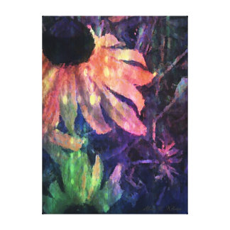 Colorful Sunflower Stretched Canvas Prints