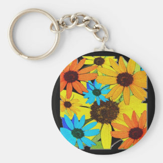 Colorful Sunflower Keychain