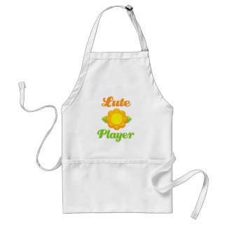 Colorful Sunflower Lute Player Gift Adult Apron