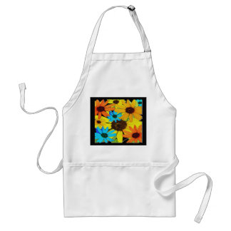 Colorful Sunflowers Adult Apron