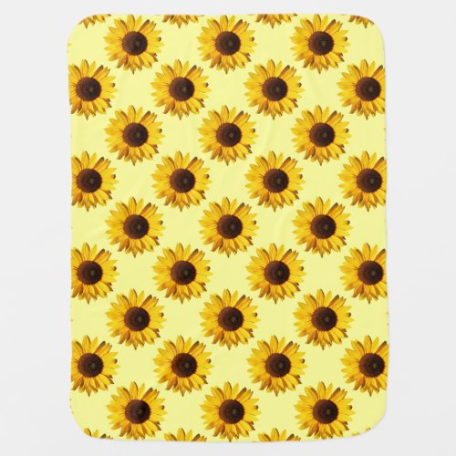Colorful Sunflowers Baby Blanket