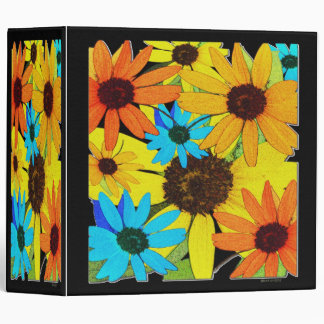 Colorful Sunflowers Binder