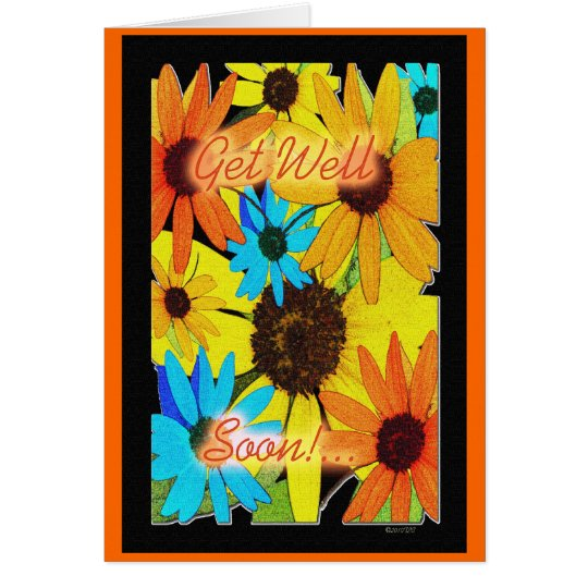 Colorful Sunflowers Card