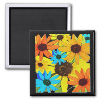 Colorful Sunflowers Magnet