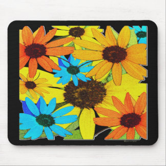 Colorful Sunflowers Mouse Pad