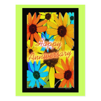 Colorful Sunflowers Post Cards