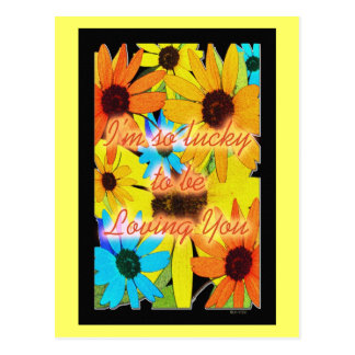 Colorful Sunflowers Post Card