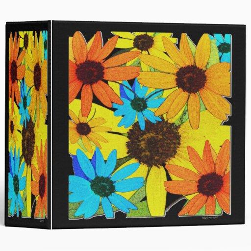 Colorful Sunflowers Vinyl Binders