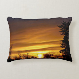 Colorful Sunrise - Searsport, Maine Decorative Pillow