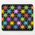 Colorful Suns Mouse Pad