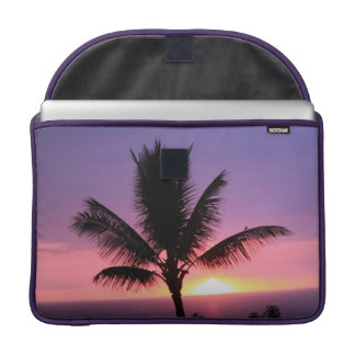 Colorful Sunset and Palm Mac Book Pro Sleeve