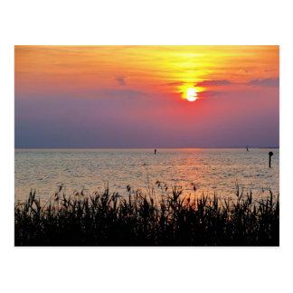 Colorful sunset at the lake - Postcard