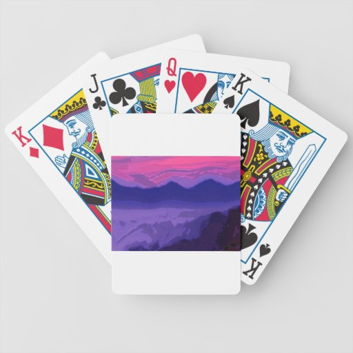Colorful Sunset Bicycle Playing Cards