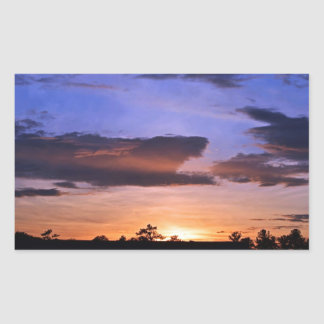 Colorful Sunset by Shirley Taylor Rectangular Sticker