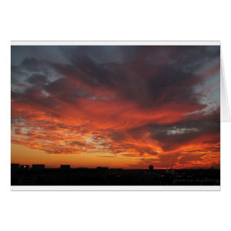 Colorful Sunset Card