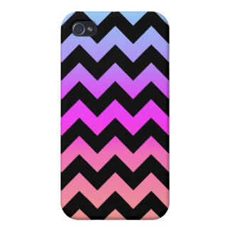 Colorful Sunset Chevron Covers For iPhone 4
