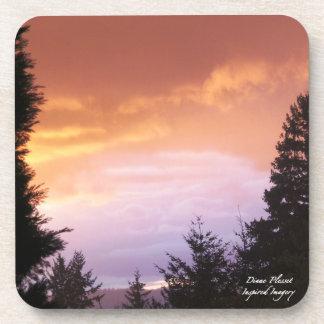 Colorful Sunset Cork Coaster