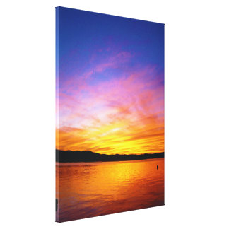 Colorful Sunset Knysna South Africa Canvas Print