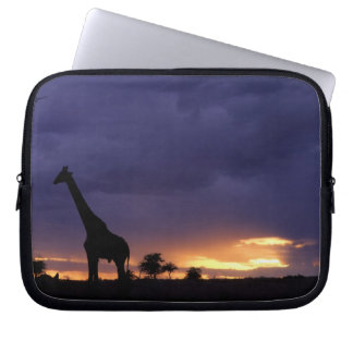 Colorful sunset late afternoon image of safari laptop sleeve