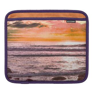 Colorful Sunset Ocean Horizon iPad Sleeve