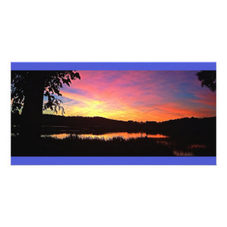 Colorful Sunset Panoramic Card