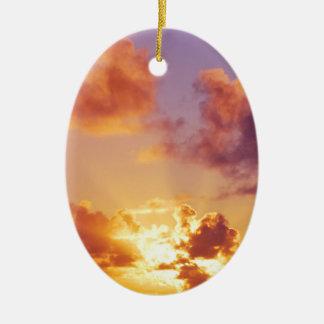 Colorful Sunset, Rays of Sunshine, Oregon Ornaments