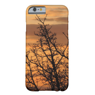Colorful Sunset with tree silhouette Barely There iPhone 6 Case