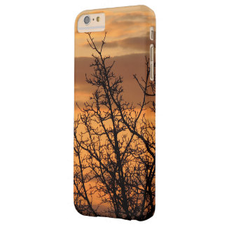Colorful Sunset with tree silhouette Barely There iPhone 6 Plus Case