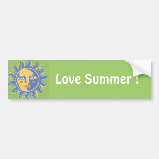 Colorful Sunshine Car Bumper Sticker
