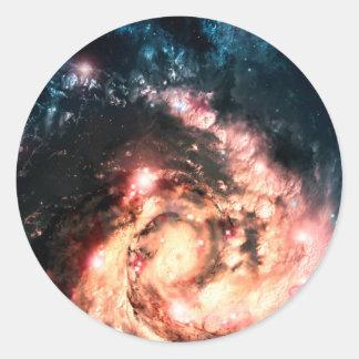Colorful Supernova Classic Round Sticker