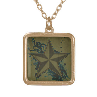 Colorful Superstar 4 Gold Plated Necklace