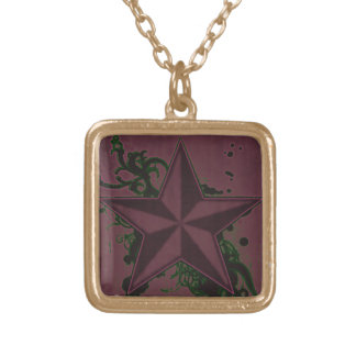 Colorful Superstar 5 Gold Plated Necklace