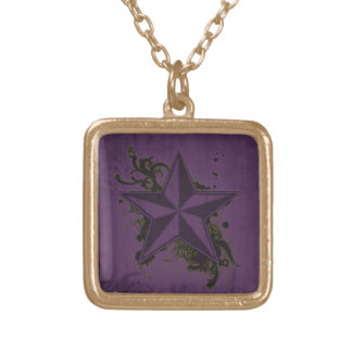 Colorful Superstar Gold Plated Necklace