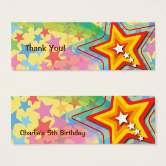 Colorful Superstar Rainbow Thank You DIY Gift Tag