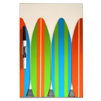 Colorful Surfboard Pattern Deisgn Dry Erase Board
