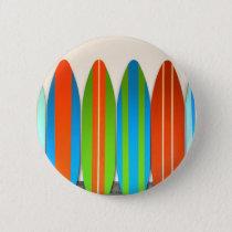 Colorful Surfboard Pattern Deisgn Pinback Button