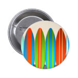 Colorful Surfboard Pattern Deisgn Pinback Button