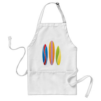 Colorful Surfboards Adult Apron
