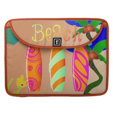 Beach Themed Colorful Surfboards Tropical Beach Sleeve For MacBook Pro