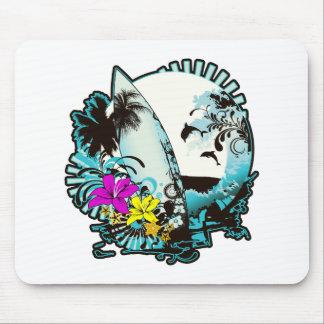 Colorful Surfer Logo Mouse Pad