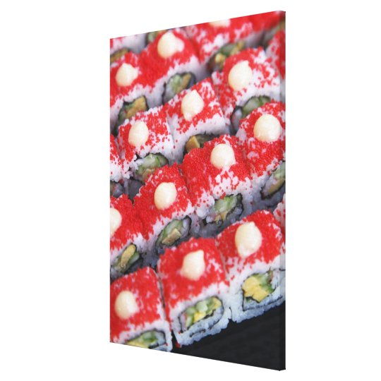 Colorful sushi for sale canvas print