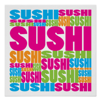 Colorful Sushi Poster