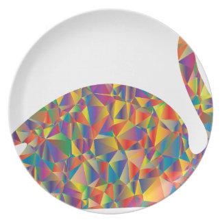 colorful swan dinner plate