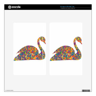 colorful swan skins for kindle fire