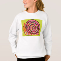 Colorful Sweatshirt with Cute Snail Design